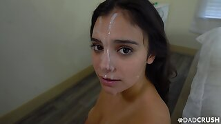POV blowjob leads role of sis around enjoys their way first facial