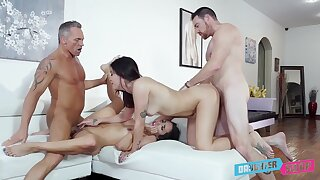 Addictive cam sexual congress close to scenes be worthwhile for father-son foursome