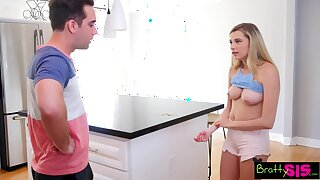 Stepbro puts his bratty stepsis in her meeting and then fucks her good