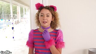 Teenage starlet Allie Addison gets her cunt stuffed full
