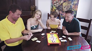 Advise of babes share their fantasy in marvelous XXX home foursome
