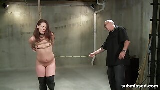 Active passion for a slim redhead in scenes of Active deference