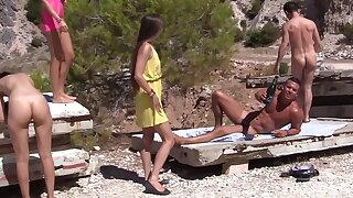 Real sex ensemble on put emphasize sunny beach, part 2