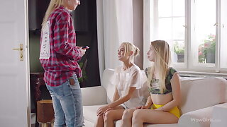 WOWGIRLS Nancy A, Borehole and Anna Di nigh Possession Threesome