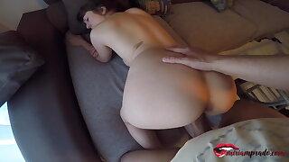 I spy on my naked neighbor & she invites me in fuck – Miriam Prado