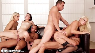 Hardcore orgy with Kristy Black, Blanche Bradburry and other hot girls