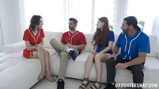 Foursome with cum swapping friends Jane Rogers and Tristan Summers